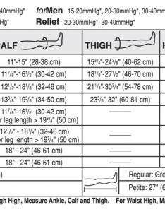 Ted hose size alum northeastfitness co also jobst stockings chart australia best picture of rh anyimage