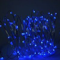 100 Blue LED Micro Fairy String Light, Waterproof Wire ...