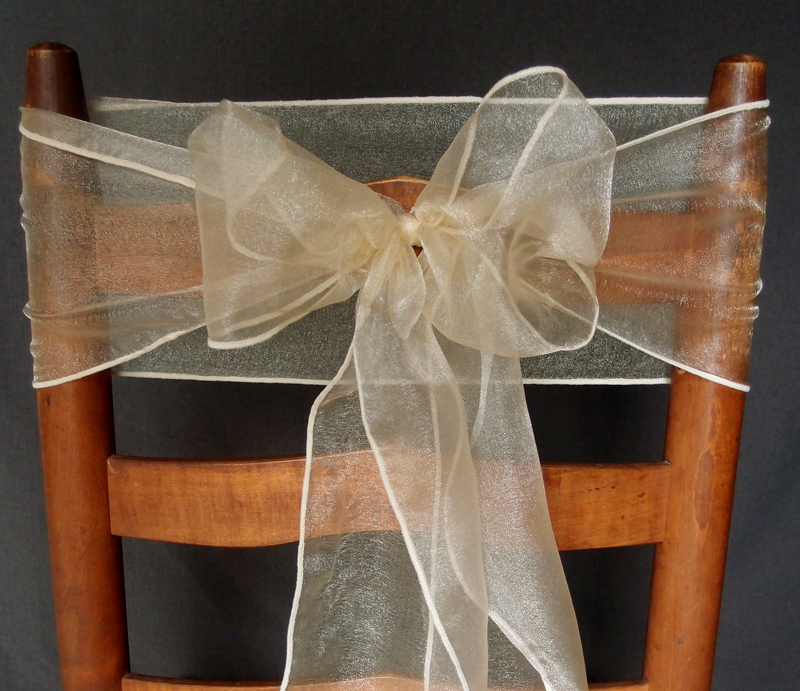 dark red chair sashes used banquet chairs champagne organza / bows table runners (6.5in x 9ft, 10 pack) on sale now ...