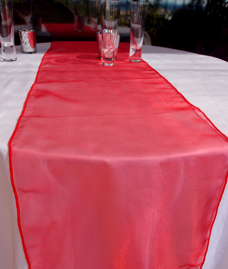 mint chair sashes cover rentals houston tx organza table runner - red