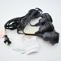 Triple Socket Black Pendant Light Lamp Cord for Lanterns ...