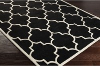 Black White Area Rug
