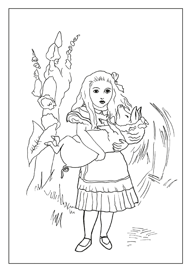 Alice in Wonderland Coloring Cards