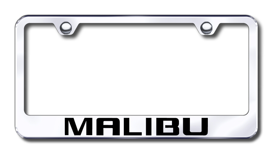Chevy Malibu Laser Etched Stainless Steel License Plate