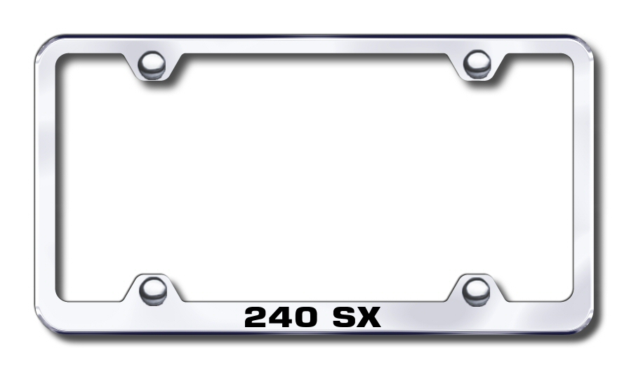 Nissan 240sx Laser Etched Stainless Steel Wide License Plate Frame ...