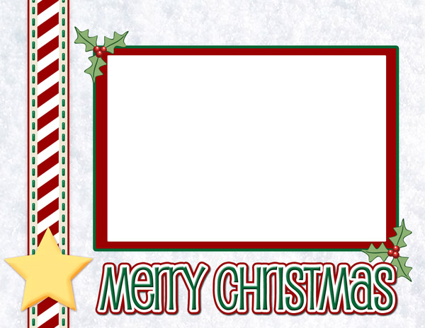 Digital Download Merry Christmas Card Layout