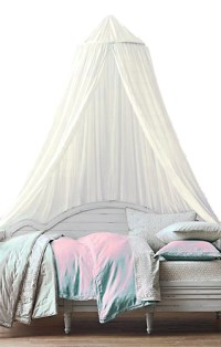 Cream Cotton Bed Canopy, Off-White Romantic Bed Canopy ...