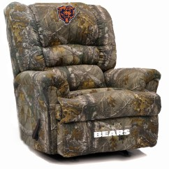 Camo Recliner Chair Wayfair Dining Room Chairs Chicago Bears Big Daddy