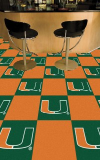 Miami Hurricanes Team Carpet Tiles