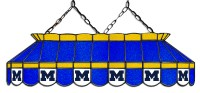 "Michigan Wolverines 40"" Stained Glass Pool Table Light"