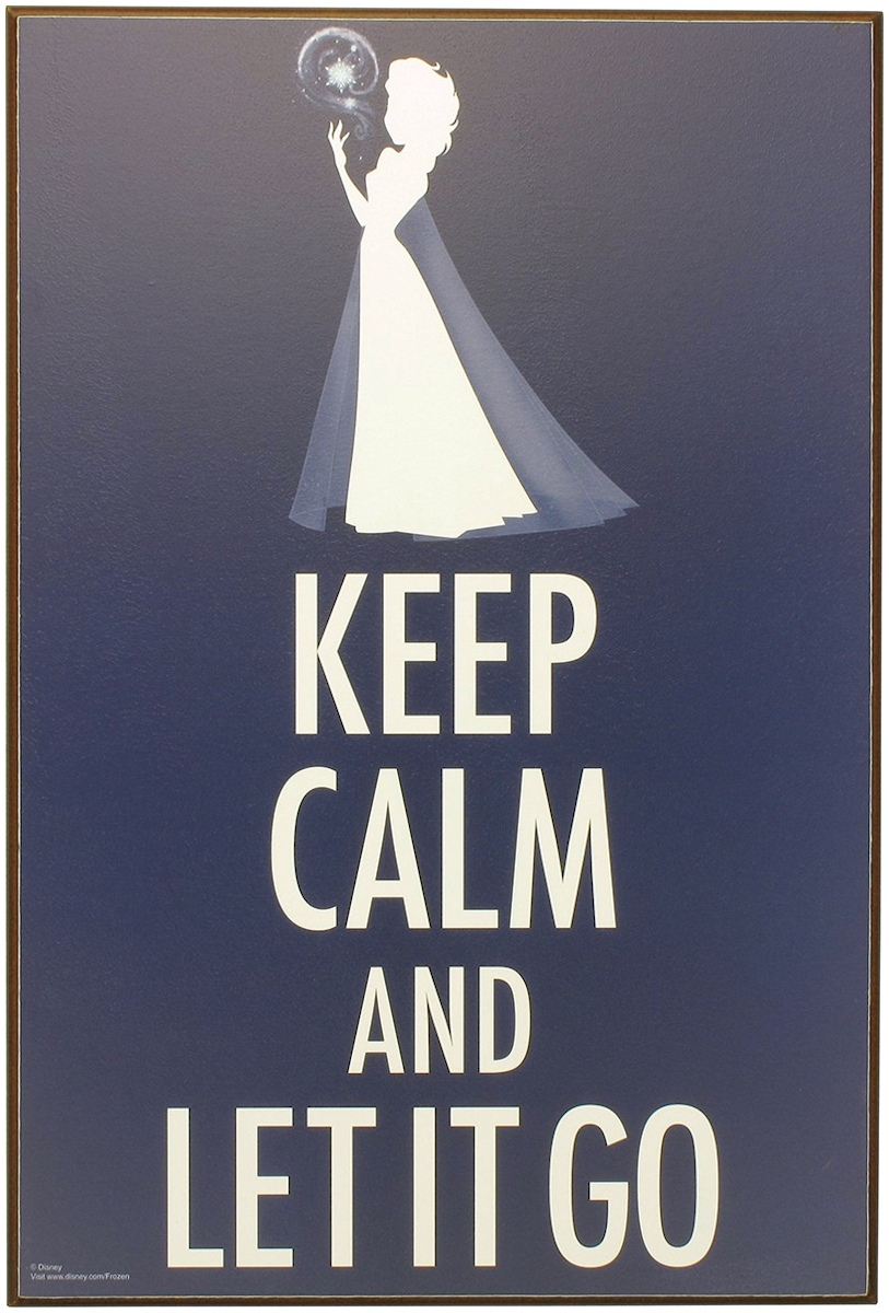 Frozen Keep Calm and Let it Go Wall Art