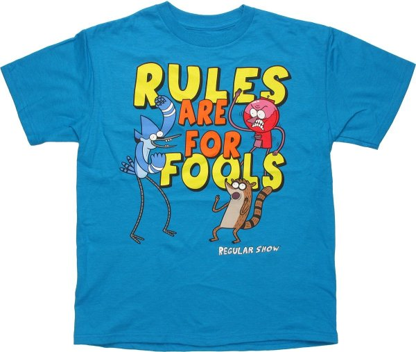 Regular Show Rules Fools Youth T Shirt