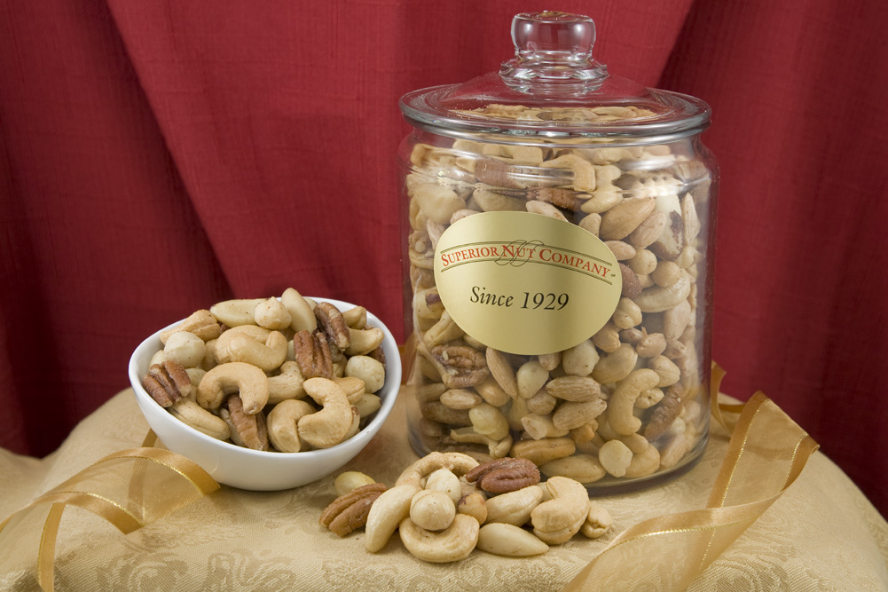 Superior Mixed Nuts 55 Pound Glass Jar