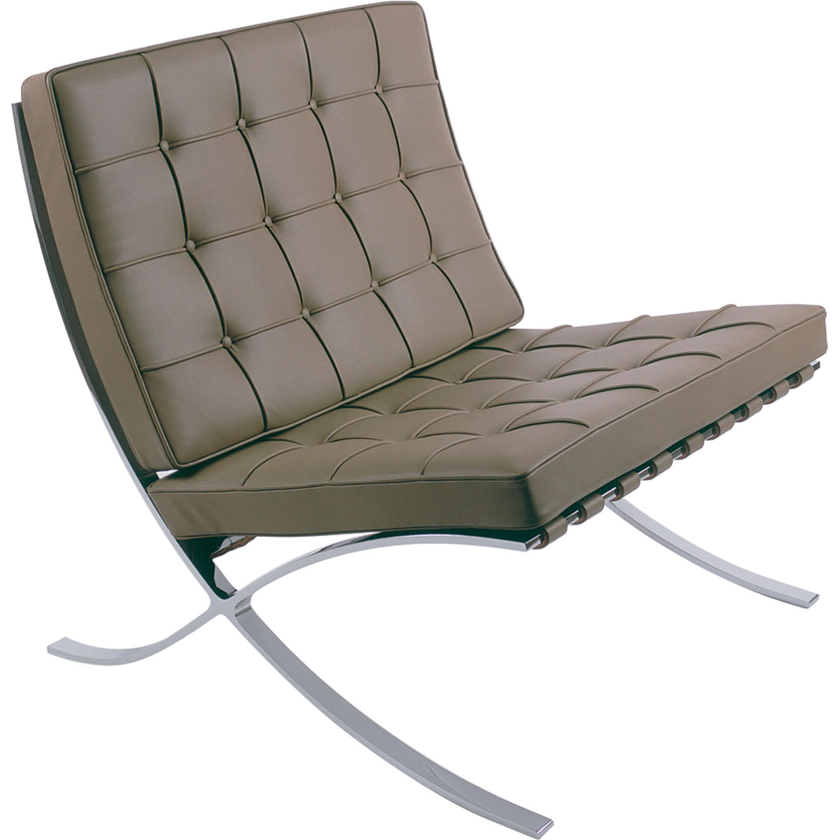 barcelona chairs chair with chrome steel legs knoll shop