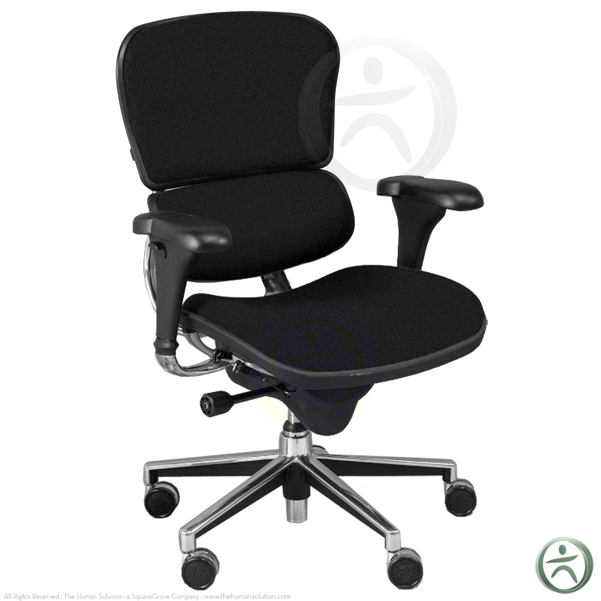 Raynor Chairs Shop Raynor Ergohuman Chairs Black Fabric Blk10erglo