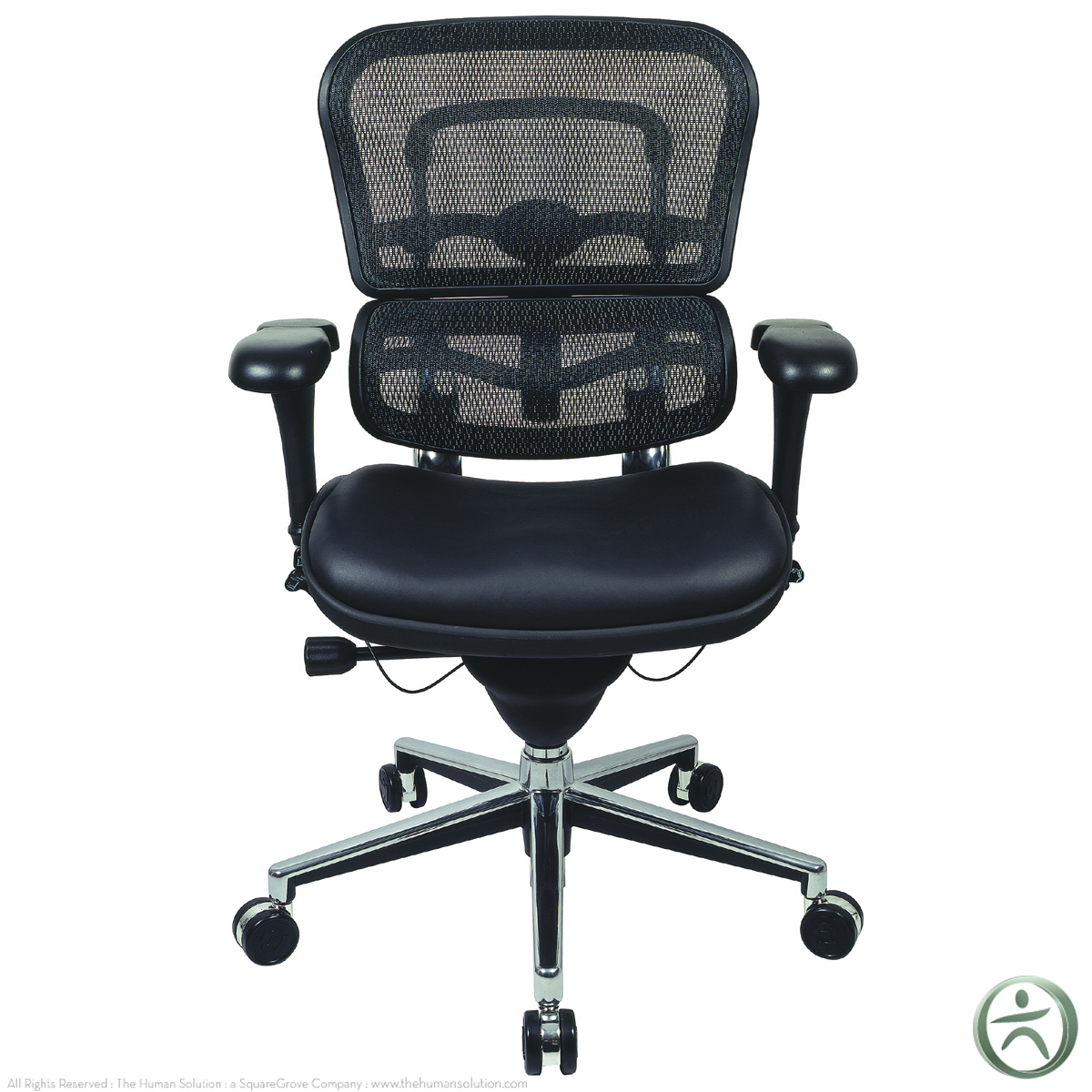 raynor ergohuman chair light grey accent with arms mesh leather seat