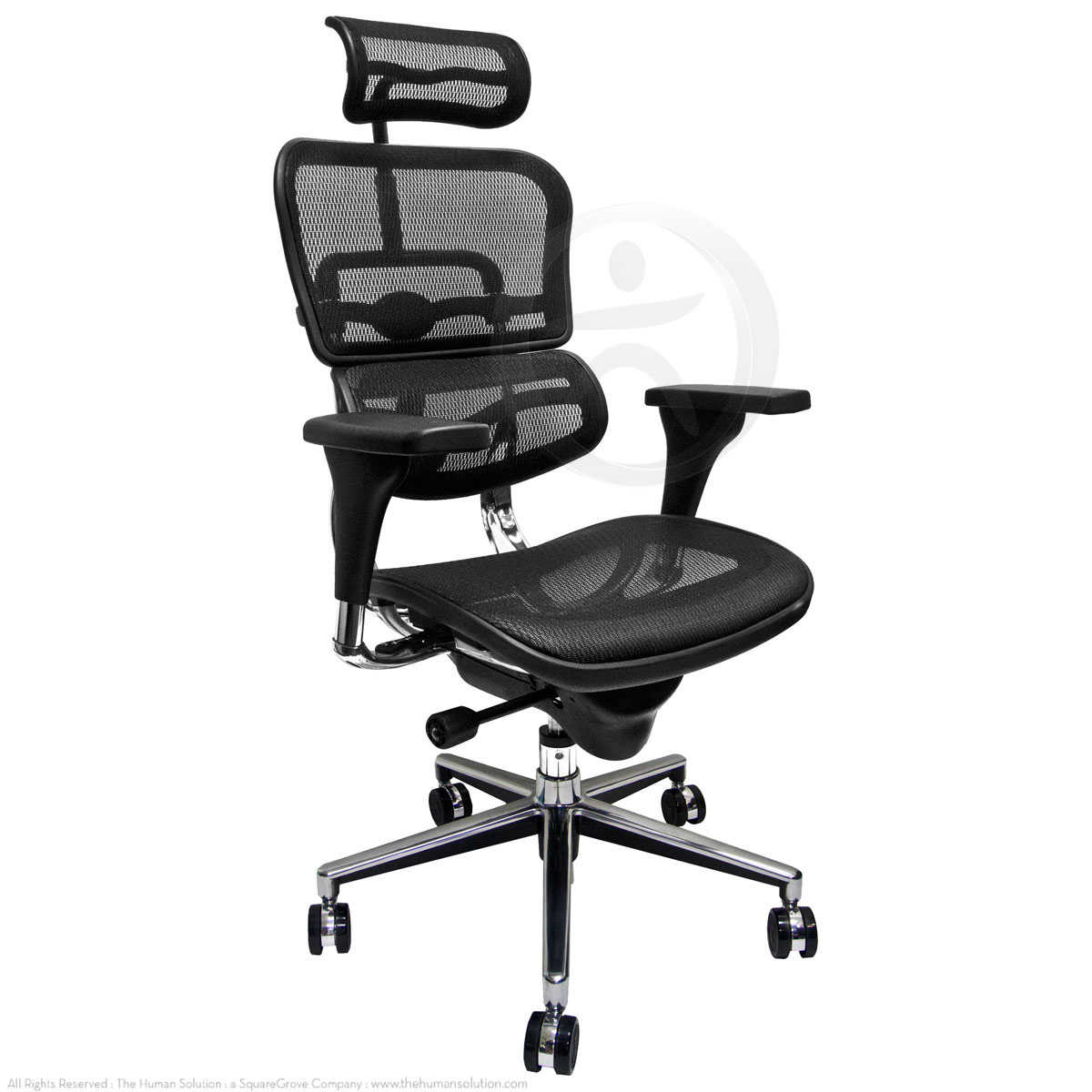 Raynor Chairs Raynor Ergohuman Me7erg Mesh Chair With Headrest Open