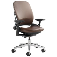 Steelcase Leap Chair Executive Armrest Covers In Leather Shop Chairs