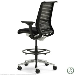 Office Chair Vs Stool Fabric For Kitchen Chairs Steelcase Think Leather Height Adjustable Drafting