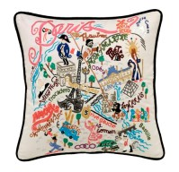 Hand Embroidered CatStudio Paris Pillow