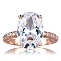 Rose Gold Ring: Rose Gold Ring With Cubic Zirconia