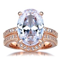 Wedding Sets: Cz Wedding Sets Rose Gold
