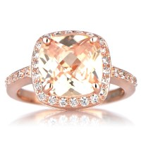 Rose Gold Ring: Rose Gold Ring Cz
