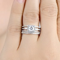 Not expensive Zsolt wedding rings: Triple set wedding rings