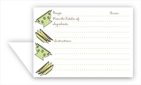 Double Recipe Card Colander Amp Plates Lime Amp Chocolate