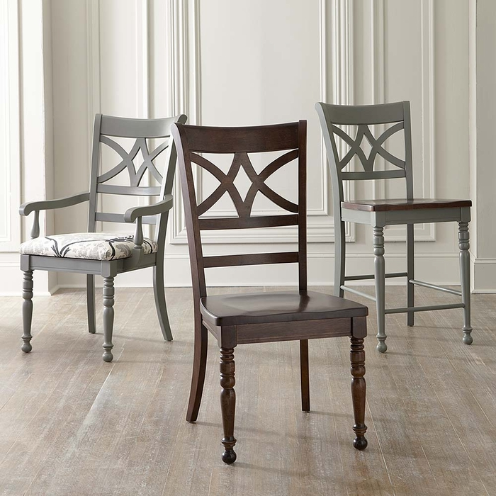 Bassett Custom Diamond Back Dining Side Chair  dining chairs