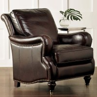 Oxford Comfortable Leather Chair by Bassett Furniture ...