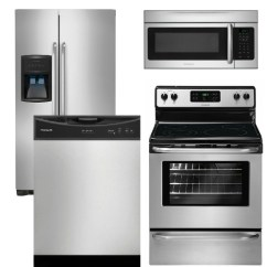 Frigidaire Kitchen Package Corner Hutch Reviews For 13 Appliance 4 Piece With Electric Range Stainless