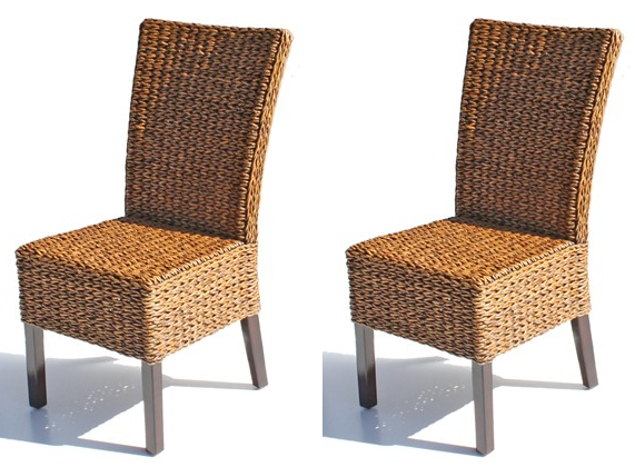 Wicker Paradise Cabo Seagrass Dining Chair