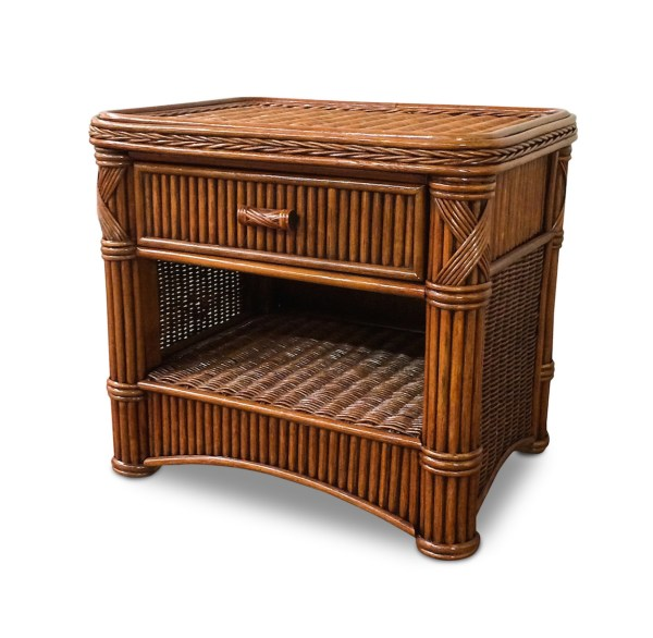 Rattan 1 Drawer Nightstand - Barbados Wicker Paradise