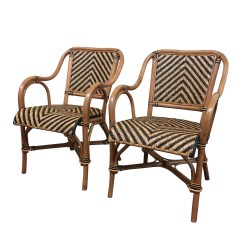 Wicker Dining Chair Living Room Chairs Under 100 A Pair Of Safari Rattan Arm Paradise