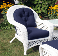 White Outdoor Wicker Chair