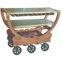 Buy Splendid Wine Cart with wheels by Yosemite Home Decor