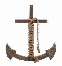 Buy Wooden Rope Anchor Shaped Wall Decorative