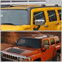 06-10 Hummer H3 / H3T Pair of Aluminum OE Style Roof Rack ...