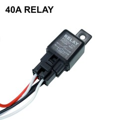 Led Light Bar Relay Wiring Diagram Pioneer Dvd Stereo Harness Off Road Atv Jeep 40 Amp
