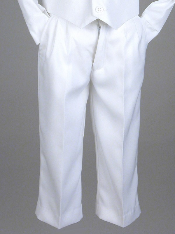 Boys White Dress Pants