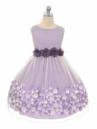 Lavender Flower Mesh Dress