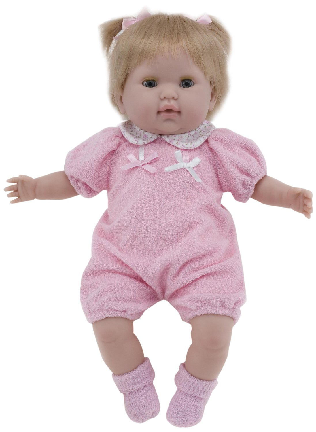 "15"" Dolls by Berenguer Nonis Baby Doll, Pink and white Outfit"