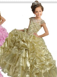 gold pageant dresses for little girls princess gold ...