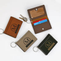 Personalized Delights - Leatherette Keychain ID Holder Buy Now