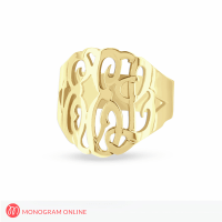 Solid Gold Monogram Ring