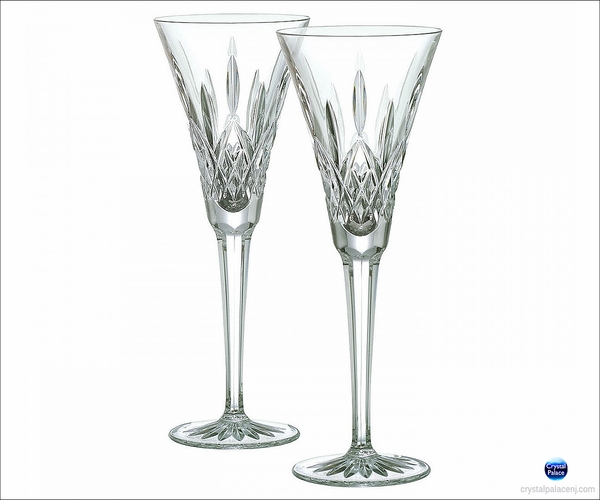 Waterford Crystal Lismore Toasting Flutes Pair