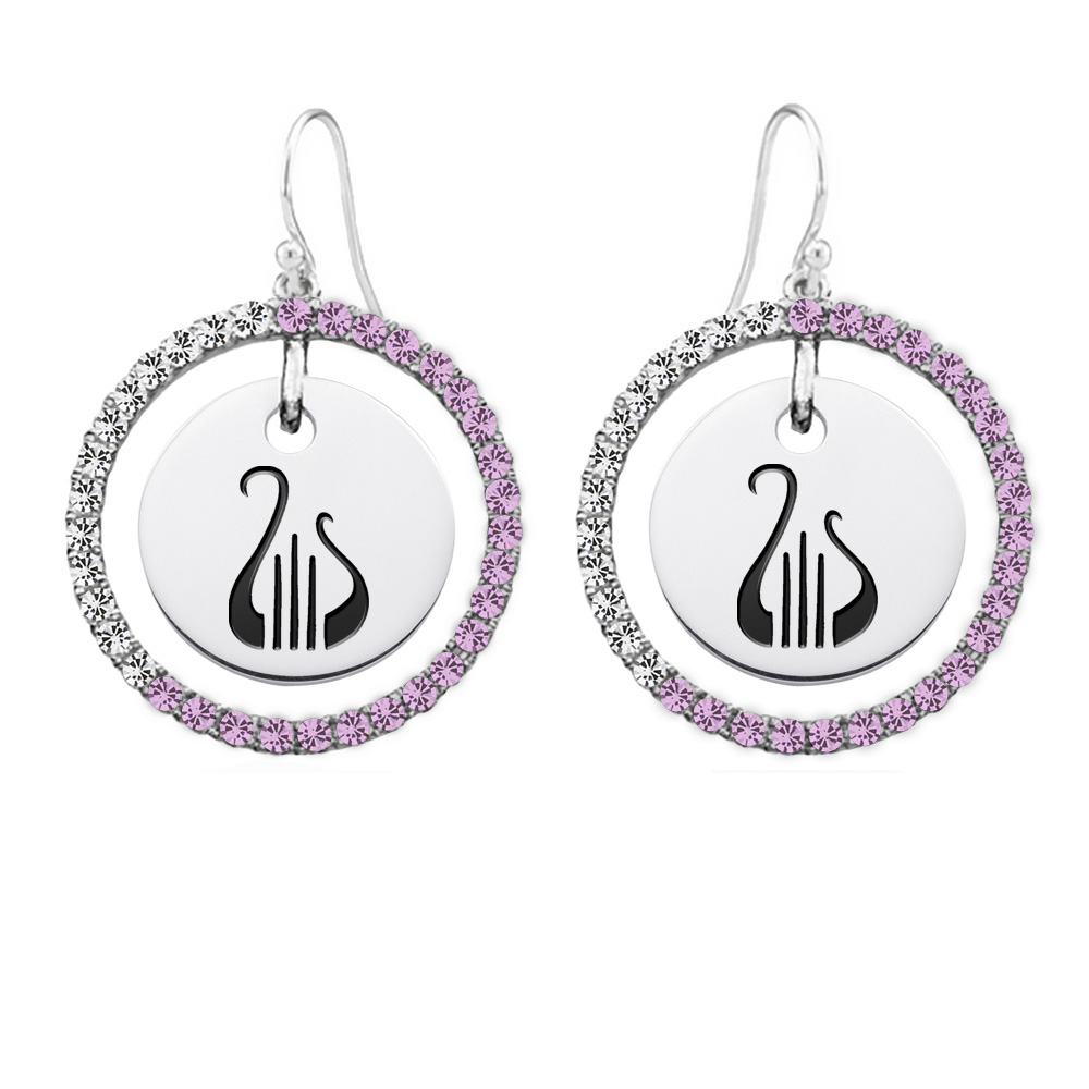Wholesale Alpha Chi Omega Sterling Silver and Pink CZ