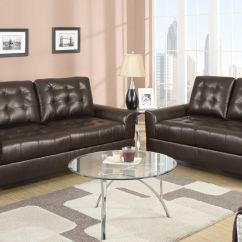 Bailey Leather Sofa Bed Kaufen Auf Ratenzahlung Poundex F7563 Brown Bonded And