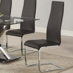 Black Leather Chair Dining Therapeutic Wobble Coaster 100515blk Steal A